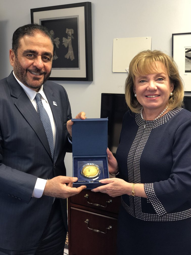 Mansoor Al Awar discusses prospects for academic cooperation with President of Drexel University Online