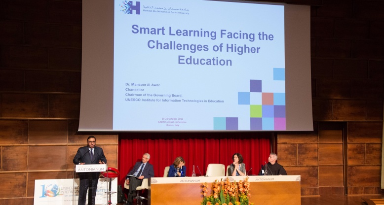 HBMSU Chancellor makes history as first Arab figure to participate in higher education conference in Italy